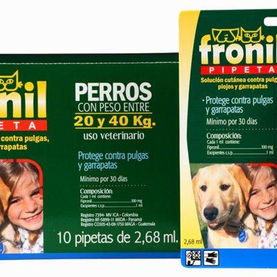 Fronil Pipeta perros y gatos Parasiticidas Veterinarios