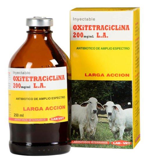 Oxitetraciclina antibiótico veterinario para aves y bovinos
